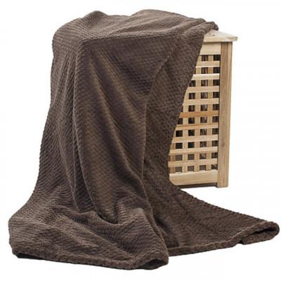 Плед Ecotex Elegance коричневый (размер 150х200 см)