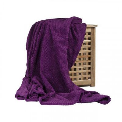 Плед Ecotex Elegance фиолетовый (размер 150х200 см)