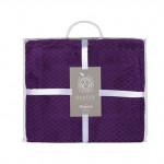 Плед Ecotex Elegance фиолетовый (размер 200х220 см)
