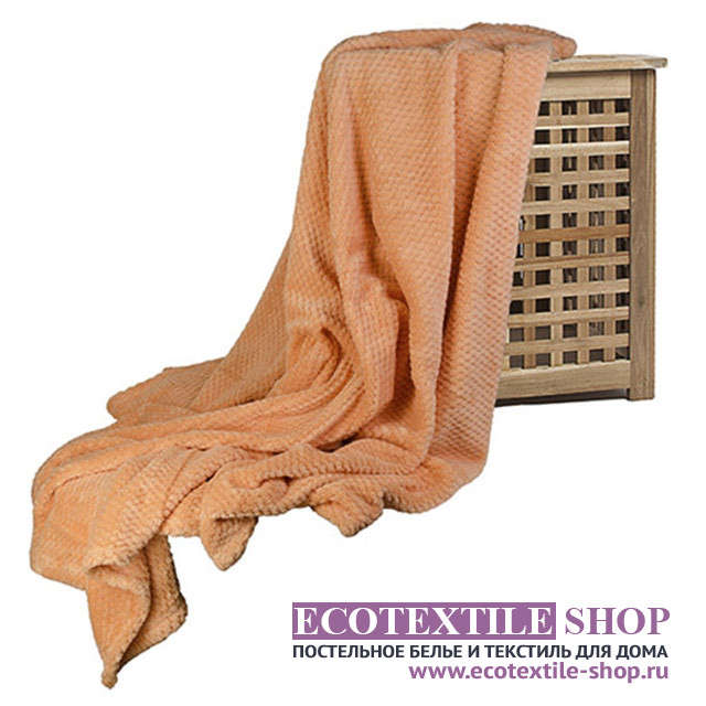 Плед Ecotex Elegance терракотовый (размер 150х200 см)