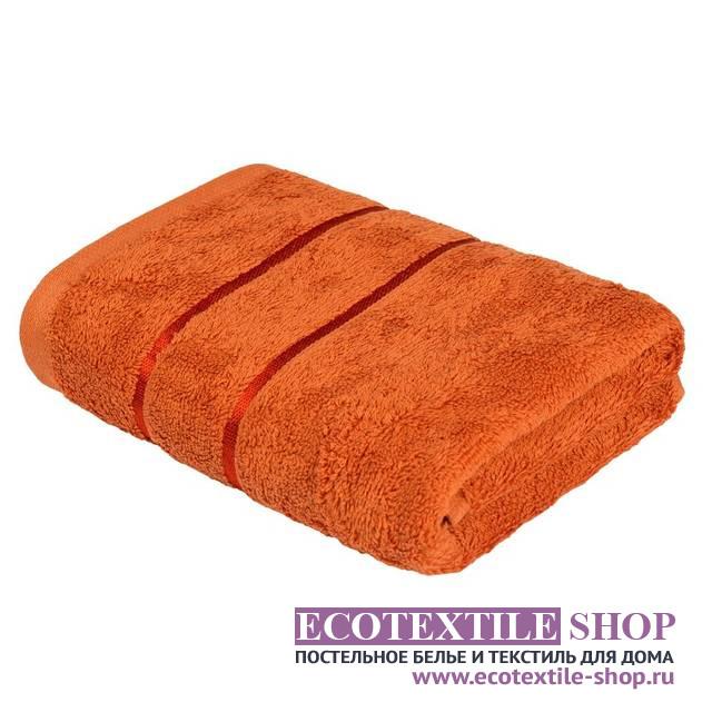 Полотенце Египетский Хлопок оранжевый (размер 70х130 см)