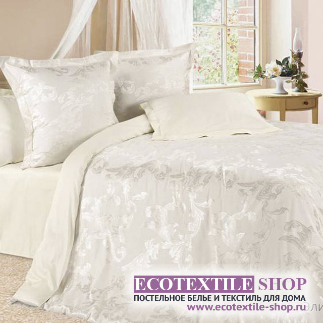 Постельное белье Ecotex Estetica Элизабет в чемодане (размер 1,5-спальный)