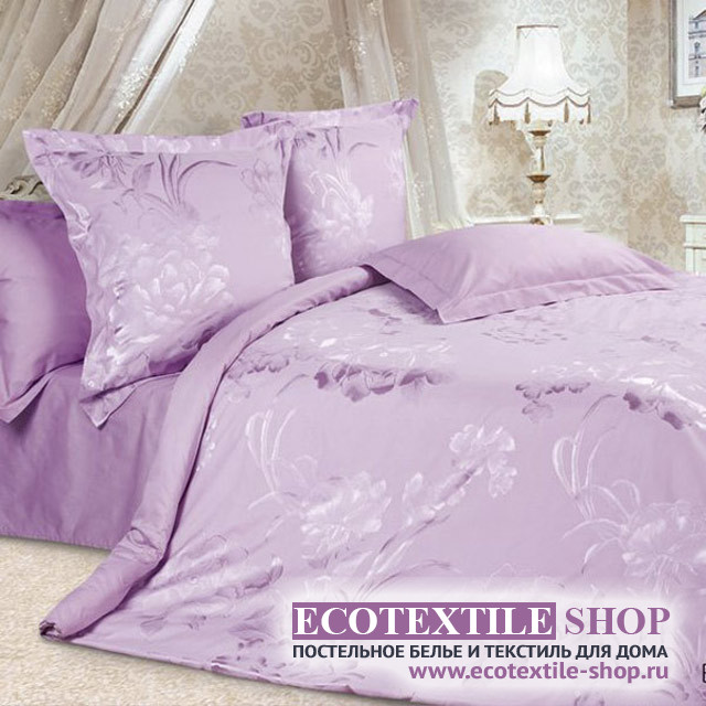 Постельное белье Ecotex Estetica Виолетта в чемодане (размер Евро)