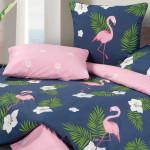 Постельное белье Ecotex Harmonica Фламинго (размер 1,5-спальный)