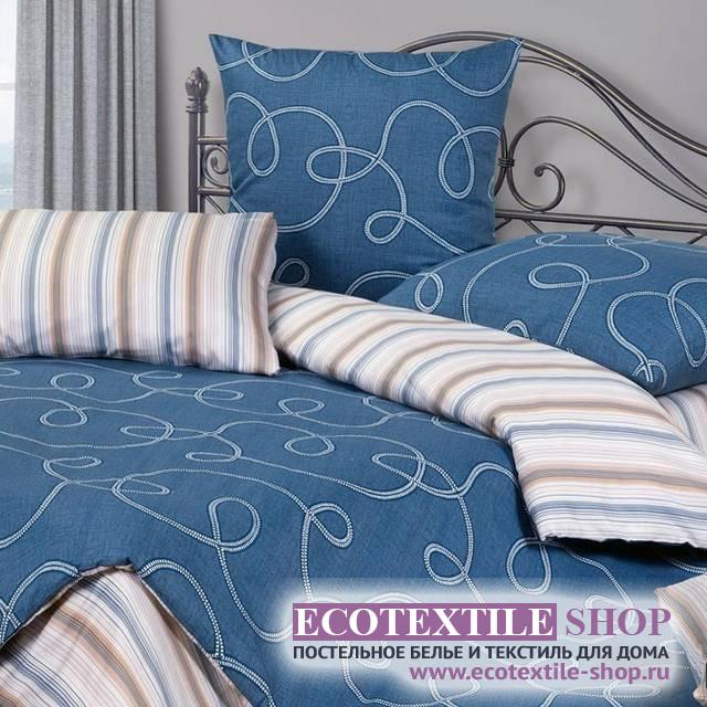 Постельное белье Ecotex Harmonica Индиго (размер 1,5-спальный)