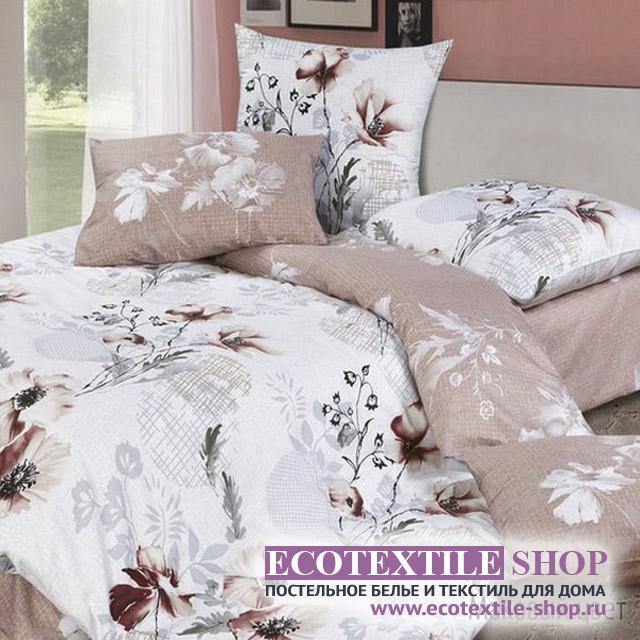 Постельное белье Ecotex Harmonica Маковый Цвет (размер 1,5-спальный)