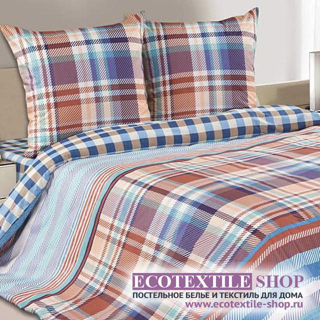 Постельное белье Ecotex Poetica Блюз на резинке (размер 2-спальный)