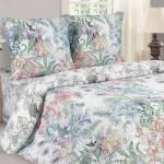 Постельное белье Ecotex Poetica Цветочный микс на резинке (размер 2-спальный)