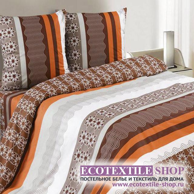 Постельное белье Ecotex Poetica Эксцентрик на резинке (размер 2-спальный)