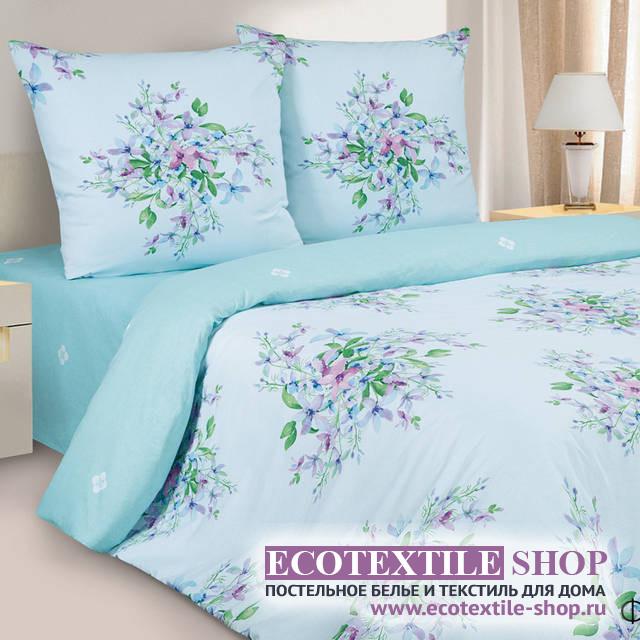 Постельное белье Ecotex Poetica Фиалки Монмартра на резинке (размер 2-спальный)