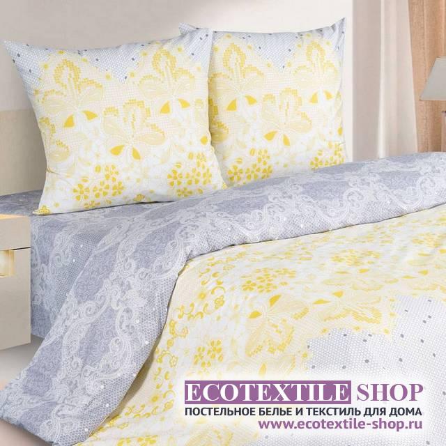 Постельное белье Ecotex Poetica Филигрань на резинке (размер 2-спальный)