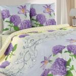 Постельное белье Ecotex Poetica Флора на резинке (размер 2-спальный)