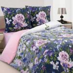 Постельное белье Ecotex Poetica Гортензия на резинке (размер 2-спальный)