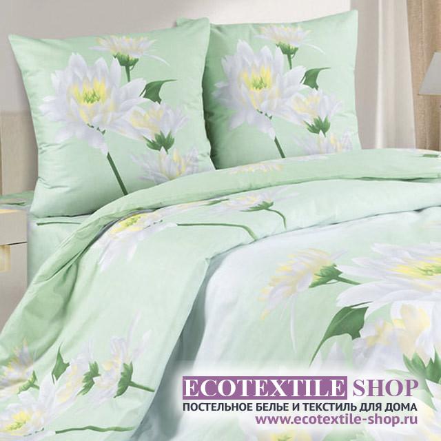 Постельное белье Ecotex Poetica Королевская кувшинка на резинке (размер 2-спальный)