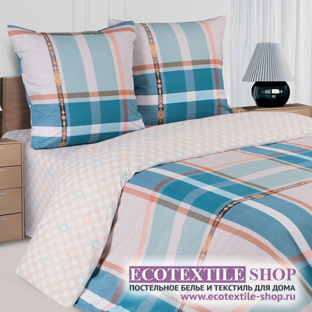 Постельное белье Ecotex Poetica Ла-Манш на резинке (размер евро)