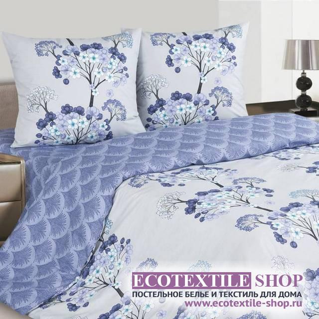 Постельное белье Ecotex Poetica Лазурь (размер 1,5-спальный)