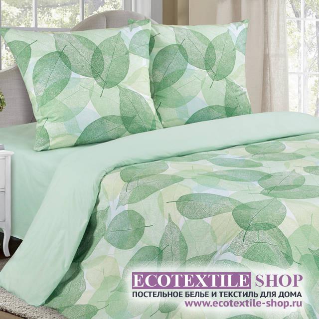 Постельное белье Ecotex Poetica Ливз на резинке (размер 2-спальный)