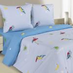 Постельное белье Ecotex Poetica Майами на резинке (размер 2-спальный)