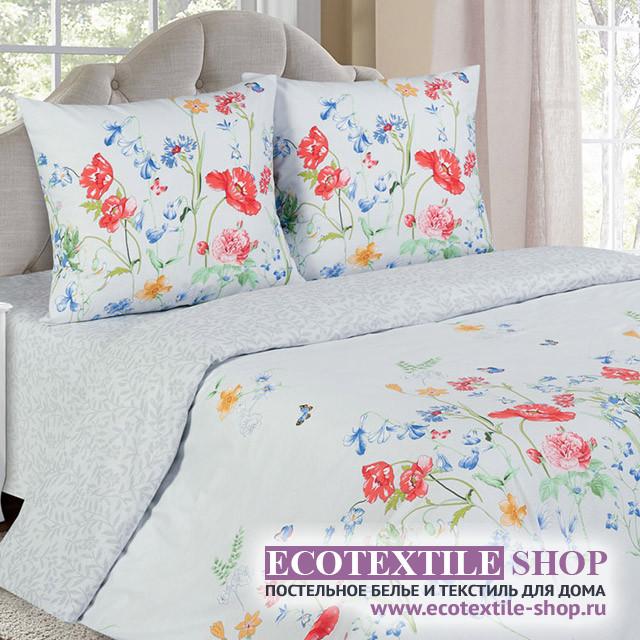 Постельное белье Ecotex Poetica Маки на резинке (размер 2-спальный)