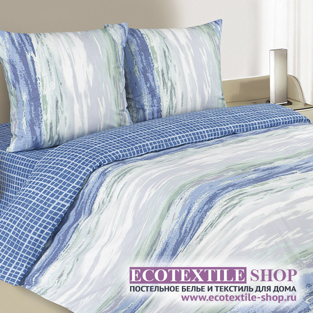 Постельное белье Ecotex Poetica Морской бриз (размер евро)