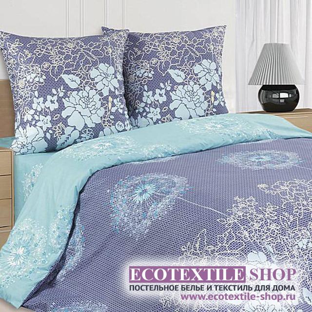 Постельное белье Ecotex Poetica Нефритовый цветок на резинке (размер 2-спальный)