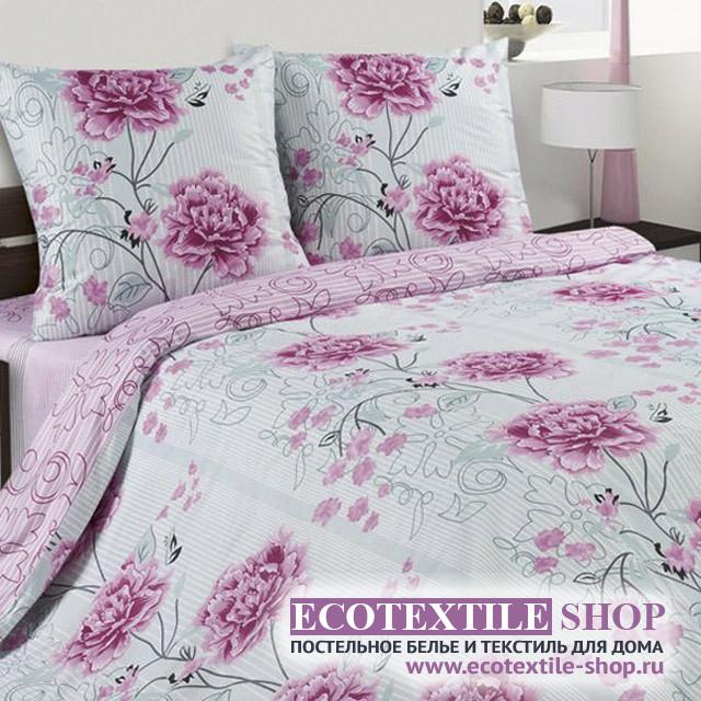 Постельное белье Ecotex Poetica Пионы (размер 2-спальный)