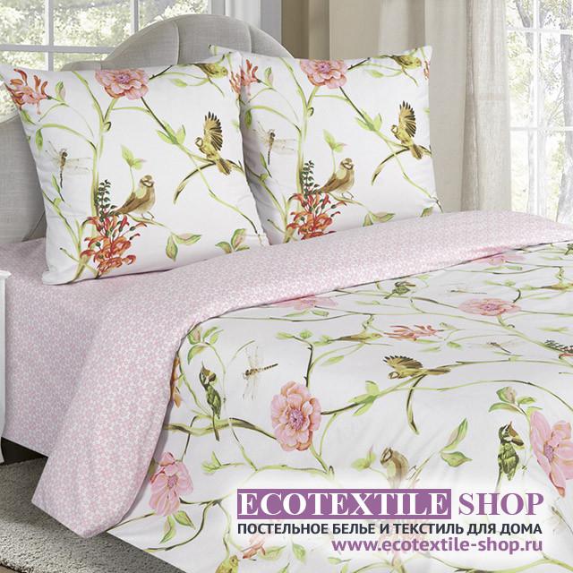 Постельное белье Ecotex Poetica Райский сад на резинке (размер 2-спальный)