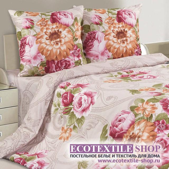 Постельное белье Ecotex Poetica Вензель на резинке (размер 2-спальный)