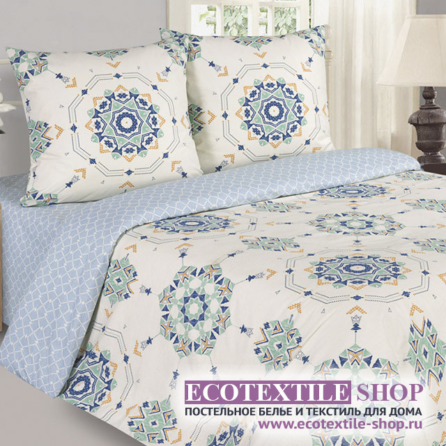 Постельное белье Ecotex Poetica Вернисаж на резинке (размер 2-спальный)