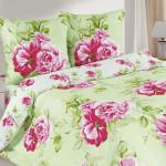 Постельное белье Ecotex Poetica Ветка розы на резинке (размер 2-спальный)