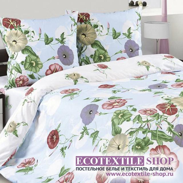 Постельное белье Ecotex Poetica Вьюнок на резинке (размер 2-спальный)
