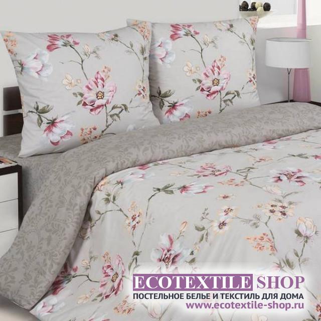 Постельное белье Ecotex Poetica Яблоневый цвет на резинке (размер евро)