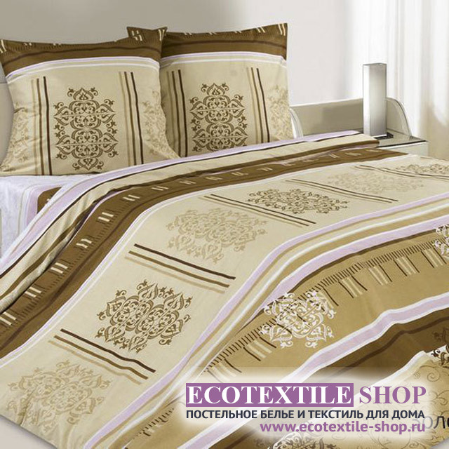 Постельное белье Ecotex Poetica Золотая долина (размер семейный)