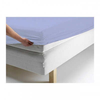 Простыня Ecotex джерси голубая на резинке (размер 140х200 см)
