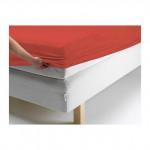 Простыня Ecotex джерси оранжевая на резинке (размер 160х200 см)