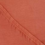 Простыня Ecotex джерси оранжевая на резинке (размер 180х200 см)