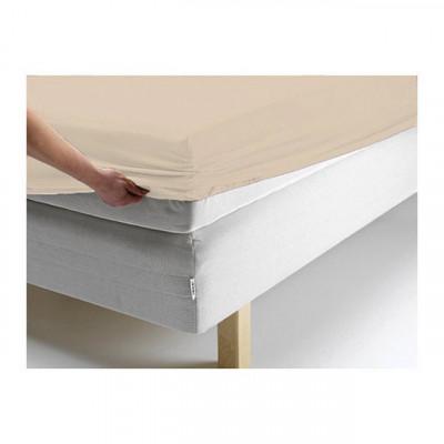 Простыня Ecotex джерси персиковая на резинке (размер 180х200 см)
