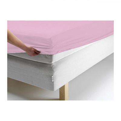 Простыня Ecotex джерси розовая на резинке (размер 140х200 см)