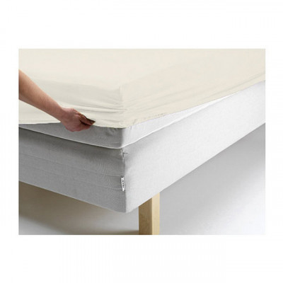 Простыня Ecotex джерси ванильная на резинке (размер 90х200 см)
