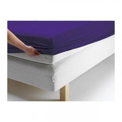 Простыня Ecotex джерси фиолетовая на резинке (размер 140х200 см)