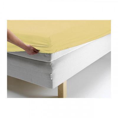 Простыня Ecotex джерси жёлтая на резинке (размер 140х200 см)