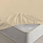 Простыня Ecotex махровая бежевая на резинке (размер 90х200 см)