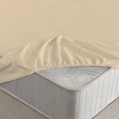 Простыня Ecotex махровая бежевая на резинке (размер 140х200 см)