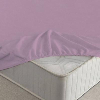 Простыня Ecotex махровая фиолетовая на резинке (размер 160х200 см)