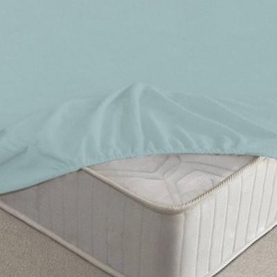 Простыня Ecotex махровая голубая на резинке (размер 90х200 см)