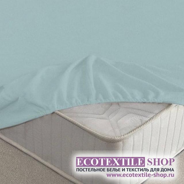 Простыня Ecotex махровая голубая на резинке (размер 180х200 см)