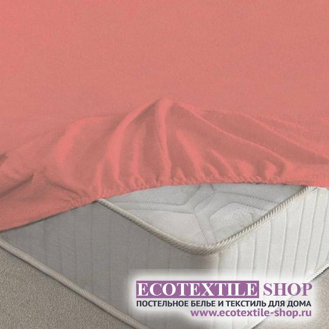 Простыня Ecotex махровая коралловая на резинке (размер 200х200 см)