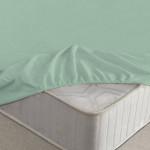Простыня Ecotex махровая ментоловая на резинке (размер 180х200 см)