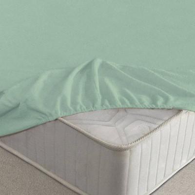 Простыня Ecotex махровая ментоловая на резинке (размер 90х200 см)