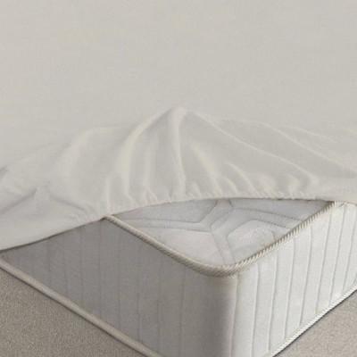 Простыня Ecotex махровая молочная на резинке (размер 200х200 см)